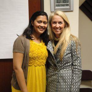 Carol McKown with RAISE Global Services and Ruksana Hussain with RuksanaWrites