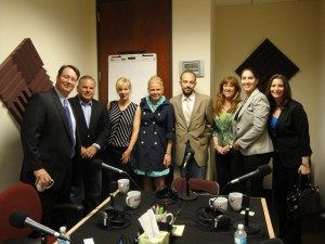 Gary Brooks with Cortera, Lori Dubuc with Infinite Strategies Group, Sue Johnson SPHR, Candace Klein with SoMoLend, Jonathan Wilson with Taylor English and Maurice Lopes with EarlyShares