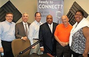 Marc Lewyn with GV Financial Advisors, Brad Lurie with Bright Light Systems, Lance Coachman with EXI and David Post with Future Security