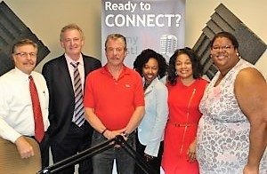 Peter Casey with Claddagh Resources, Bryan Glutting with ACS Solutions, Tiffany Mack Fitzgerald with Black Girls Golf and Sharon Ritchie-Haughton with Legacy Nursing and Rehabilitation Center