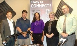 Susan Johnson and Anthony Piniella with NCR Corporation and Sheri Snyder with Objet d'Art Gallery & Studios