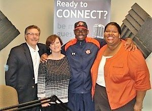 Gabby Bray with Mosaica Online Preparatory Academy and James Swinton with Lifetime Fitness of Johns Creek