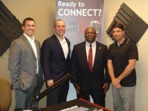 Gerald McDowell with Lilburn CID, Matt Hyatt with Rocket IT and Ryan Bonilla with Office Product Gurus