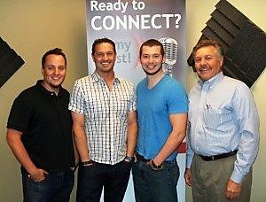 Dr. Lee Pope with Lawrenceville-Suwanee Animal Hospital, Justin Woelk & Aaron Foster with Leadercast
