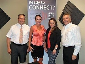 Lisa Holton with Working Media Group, Rudi Herbst with United Soft Plastics and Lorri McQueary with Destination South