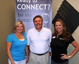 Angeline Kelly with Caliber Home Loans and Nancy Rosenberg with Sign-A-Rama Buford