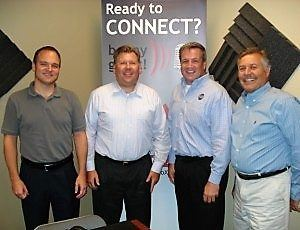 Ryan Burton with Ryan Burton Marketing, J.T. Marburger with Renew Merchandise and John Loud with Loud Security Systems
