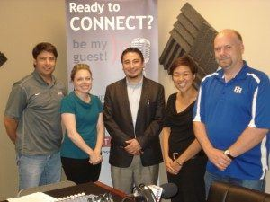 Jessica Cork with YKK Corp. of America, Yoshi Domoto with JapanFest, and Sachi Nakato with Nakato Japanese Restaurant