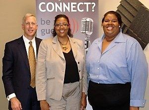 Kent Gregoire with Symphony Advantage and Myra Cisse with Certification Consultants