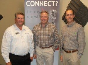 Norm Stahl with Signarama Buford, and Steve Murray and Josh Everett with New Leaf Landscape Services