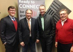 Juergen Gentzke and Rudi Herbst with German American Cultural Foundation and Michael McFarland with GrandView