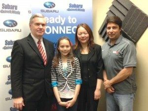 Ellie and Jen Peters with Cool2Sweet and Mike Gifford from National Business Chamber of Greater Gwinnett