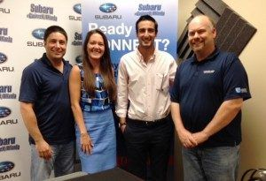 Candace Williams with Hire Dynamics and Antony Kountouris with BMarko Structures