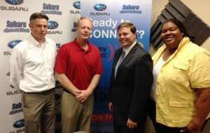 Harm Scheffer and Chris Abbey with Reliant Building Solutions, and Geoffrey Sperback with EnVision EES