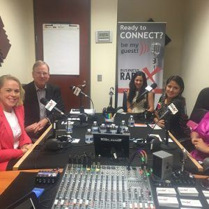 Mike Potts with Lancope, Judtih Martinez-Sadri and Gigi Pedraza with YoSoyM and Jen Martin with Girl Develop It