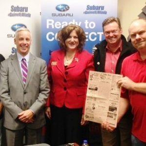 David Kohlasch of Sonesta Gwinnett Place Atlanta and Michelle & Rick Sutter of Coffee News of Suwanee