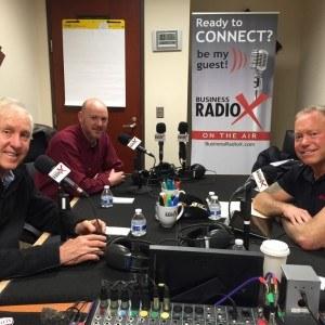 Steve Greenbaum, Fran Tarkenton and Kevin Center with PostNet