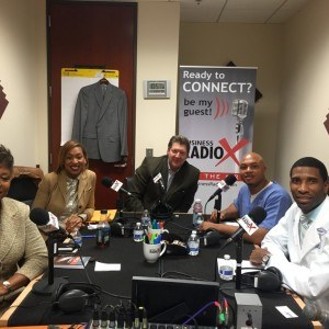 """Mary Parker with All n 1 Security Services, Dr. Rashad Sanford with Atlanta Spine Doctors and Garold """"Gary"""" Markle with Energage, Inc."""