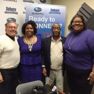 Peter James with Lincoln Heritage Life Insurance and Shamel Leonard with Family Car Foundation