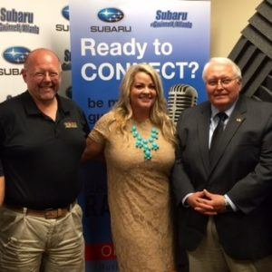 Doug Adams of Greater Eastside Chamber of Commerce, Mayor Dan Curry of City of Loganville and Rachel Hill of Dr. Chris Natural Remedies