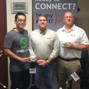 Chau Nguyen with Hirewire and Andy Powell with Alchemy Polymers
