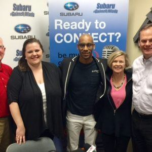 OPEN FOR BUSINESS: John Schweizer with GDP Technologies, Jerrí Hewett with Wealth Horizon, Estebon Watson with Espeute Productions, and Cally D'Angelo with the Gwinnett Chamber of Commerce