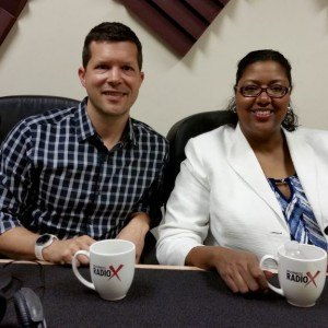 Myra Cisse with Government Contractors Association and Adam Rosenkoetter with Sol Design