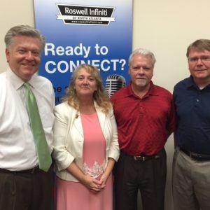 Lisa Machado of Visiting Angels, Brad Serff of Providence Bank and Dan Simmons of Virtual Management Technologies