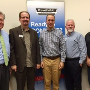 "Mayor David Belle Isle with the City of Alpharetta, Gregg Burkhalter ""the LinkedIn Guy"", and Dale Sizemore with Voterworkz"