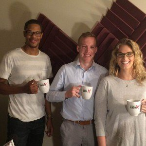 Brandy Duncan with Sandy Springs Perimeter Chamber, Shane Foster with TAG and Adrian Marshall with JCI – Atlanta