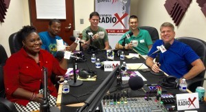 Tamika Morrison and Tramell Smith with Kamp Kiles World and Patrick Pittaluga and Sean Warner with Grubbly Farms