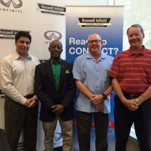 George Davis with Netcom PaySystems, Marvin Austin with SuperGreen Solutions, and George Colmant with Points North Atlanta Magazine