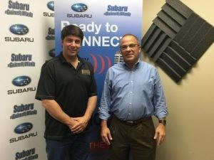 THE MAN BEHIND THE MIC: Joe Moss with Embassy National Bank