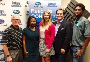 OPEN FOR BUSINESS: David Cross with U.S. Asset Management, Brittany Buck with Hampton Inn & Suites Duluth, Arvell Poe with At Home, and Courtney Spencer with the Gwinnett Chamber of Commerce