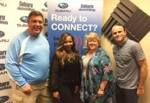 GIVING BACK TO GWINNETT: Keith Fenton & Charday Jackson with Annandale Village and Nick Reynolds with Hi-Hope Center