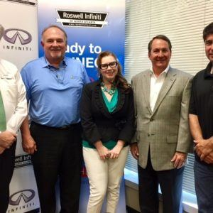 Dr. Jim Morrow with Morrow Family Medicine, Kimberly Graver with E-Transform, and Andy Jordan with Milton Business Alliance