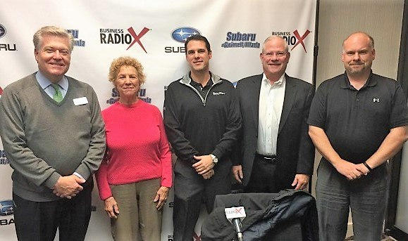 Jim Cichanski With Flex Hr Rob Moffa With Ernest Sports And Lenore Graham With Prosperitas