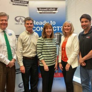 Pat Check with Latitude 34 Company Communications, Steve Manley with Manley Land Design, and Lynne Davis with NterNow