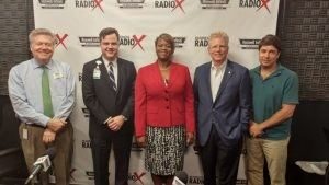 Jon-Paul Croom with WellStar North Fulton Hospital, Tracey Grace with IBEX IT Business Experts, and John Hipes with Hipes and Belle Isle