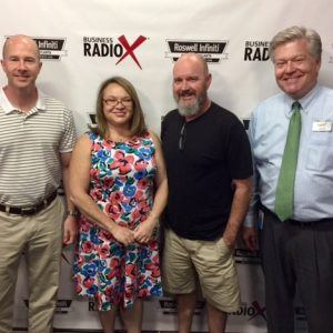 Cary Matthews with Opal Partners Group, Carrie Jones with The Hive Solution, and Trent Bramblett with Ceviche