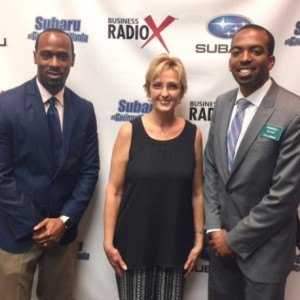 Marques Burnett with The Sports Utility Vehicle, Mattie Smith with Cartridge World Lawrenceville and Markell Bryant with Edward Jones Investments