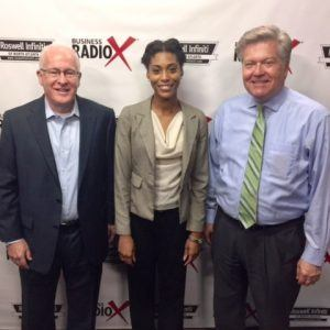 Jay Litton with MapR Technologies & RUMC Job Networking, and Porschia Parker with Millennial Performance Institute