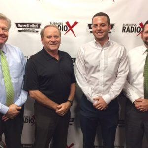 Jim Barnes with Barnes Risk Management Group, Nathan Lett with SoluSan, and Josh Roper with Barnett & Stegall