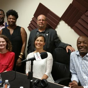 Guy Tessler with Conexx, Dexter Caffey with Caffey Investment Group, Erin Igleheart with Start:ME, Jennifer Price with Atlanta Beer Chick, Maurice Anderson with The Anderson Business Group and Brigitte Cutshall with Gemini Media