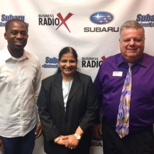 Jim McCoy with NovaCopy, Naheed Syed with Global Resource Management and Tolu Akande with ToluCoaches