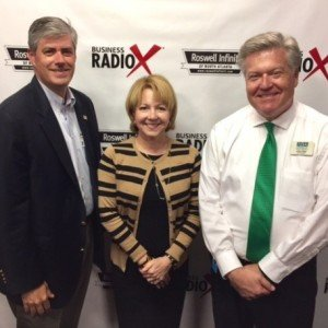 Bob Ellis with the Fulton County Board of Commissioners and Karen Cashion with the Alpharetta Technology Commission