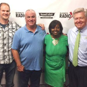 Mike Russell with ETS Solutions, Tonia Morris with Tonia Morris Speaks, and Kevin Petree with ATL Urban Farms