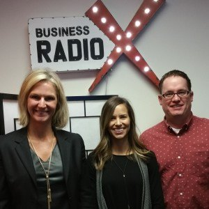 Mickey Mellen and Ali Green with GreenMellen and Wendy Stewart with Bank of America