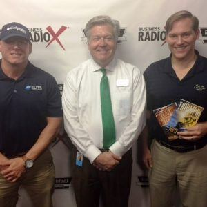 Author Matt Kunz and Jeremy Johnson with Elite Roofing & Restoration