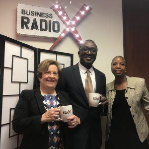 Marilyn Margolis and Dr. Adedapo Odetoyinbo with Emory Johns Creek Hospital